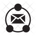 Network Connection Email Icon