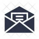 Opened Email Message Icon