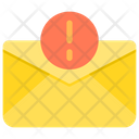 Warning Paper Email Warning Error Email Icon