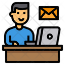 Human Resource Workfromhome Email Icon