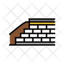Embankment Construction Color Icon