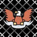 Emblem Eagle United States America Icon