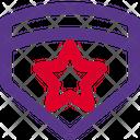 Emblem Star Military Icon