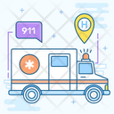 Hospital Services Emergency Ambulance Service First Aid Icon