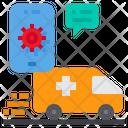 Emergency Call Ambulance Smartphone Icon
