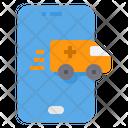 Smartphone Emergency Call Ambulance Icon