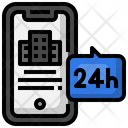 Emergency Call Full Time Support Smartphone Icon