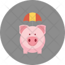 Emergency Funds Penny Bank Piggy Bank Icon