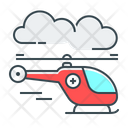 Emergency Helicopter Air Ambulance Medical Helicopter Icon