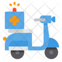 Scooter Emergency Healthcare Icon