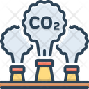 Emission Release Factory Icon