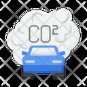 Emission Score Carbon Dioxide Car Pollution Icon