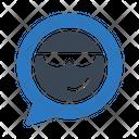 Smiley Emoji Message Icon