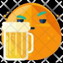 Beer Emoji Face Icon