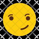 Interested Emotion Smile Icon