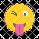 Emoticon Winking Smiley Icon