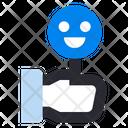 Customer Review Feedback Emoticon Like Icon