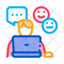 Emotional Chat Communication Icon