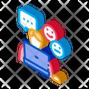 Emotional Chat Communication Icon