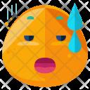 Emotionally Tired Emoji Icon