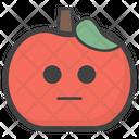 Emotionless Apple Icon