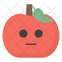 Emotionless Apple Face Icon