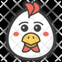 Emotionless chicken Icon