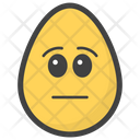 Emotionless Egg Emoji Emoticon Icon