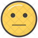 Emotionless Emoji Icon