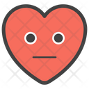 Emotionless Heart Icon
