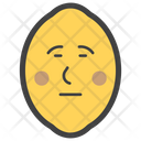 Emotionless Lemon Icon