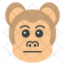 Emotionless Monkey Icon