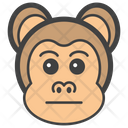 Emotionless Monkey Icon