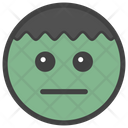 Emotionless Smiley Icon