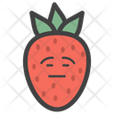 Emotionless Strawberry Face Icon