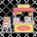 Empanada Food Cart Food Stall Icon