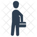 Briefcase Businessman Man Icon