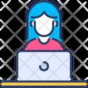 Employee Female Worker Icon