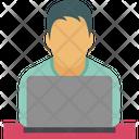 Employee Remote Staff Remote Worker Icon
