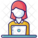 Employee Worker Female Employee Icon