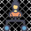 Employee Task Workflow Icon
