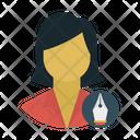 Female Employee User Icon