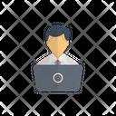 Employee User Laptop Icon