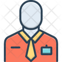 Employee Worker Member Of Staff Icon
