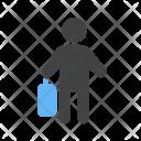 Employee Walking Briefcase Icon