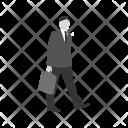 Walking Briefcase Employee Icon