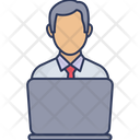 Manager Employee Laptop Icon