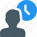 User Time Employee Icon