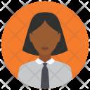 Employee Tie Woman Icon