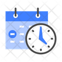 Attendance Management Time Icon